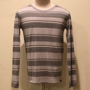 American Eagle Men XS Seriously Soft Striped Shirt